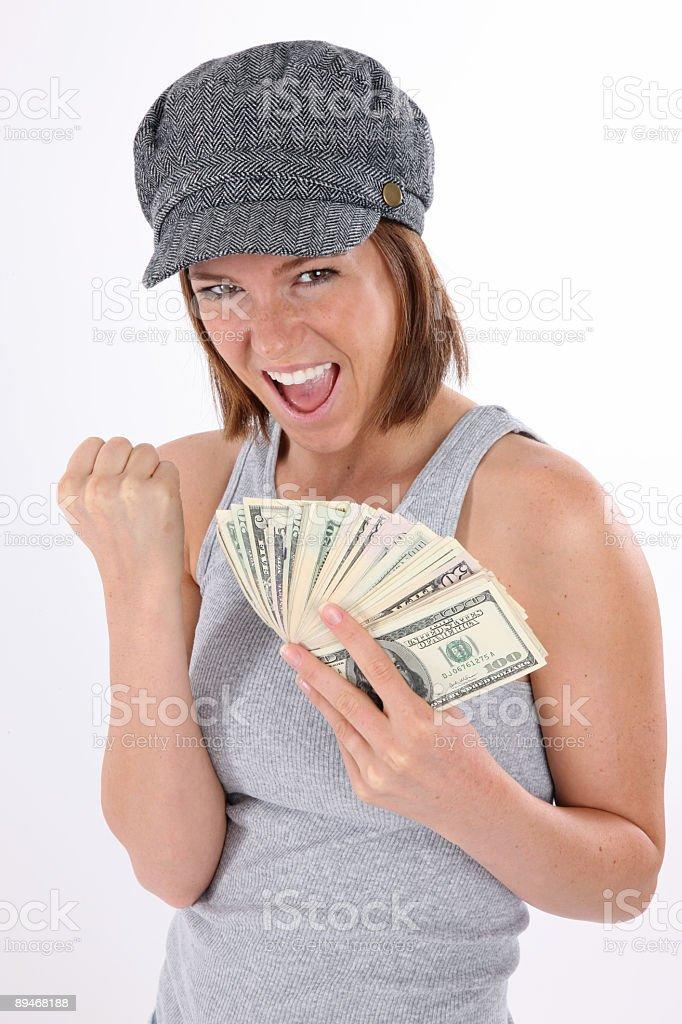 Girl with money 免版稅 stock photo