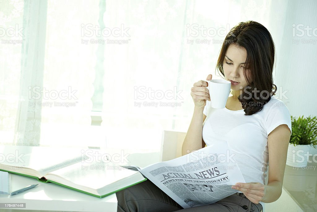 Girl with papers royalty-free stock photo