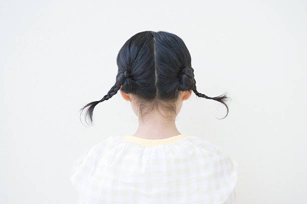 girl with pigtails - pigtails stock photos and pictures
