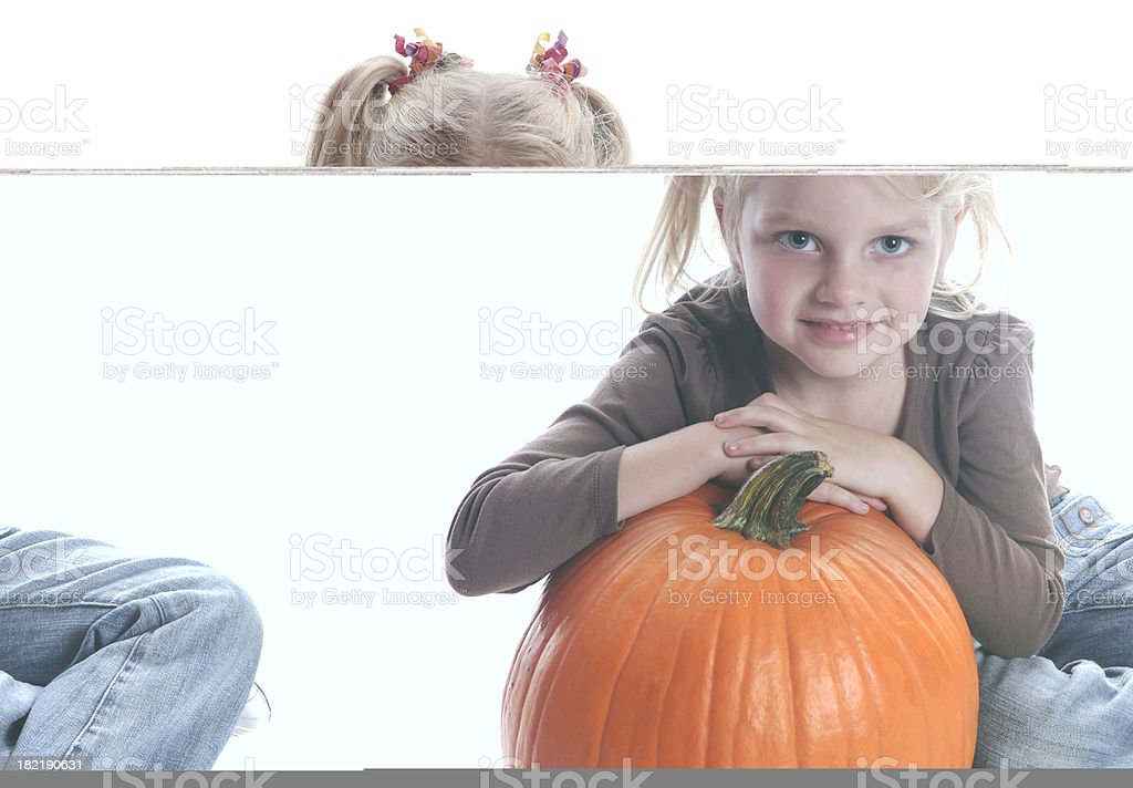 Girl with Pumpkin royalty-free stock photo