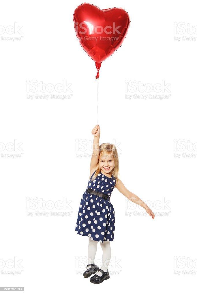 Mädchen mit roten Herz – Foto