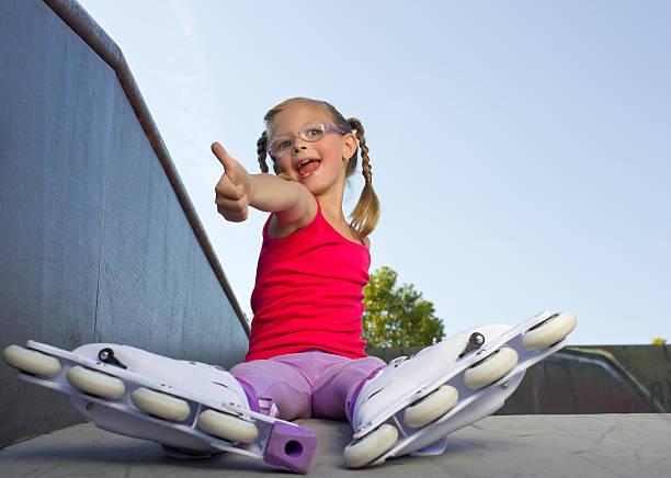 Mädchen mit Inline skates – Foto