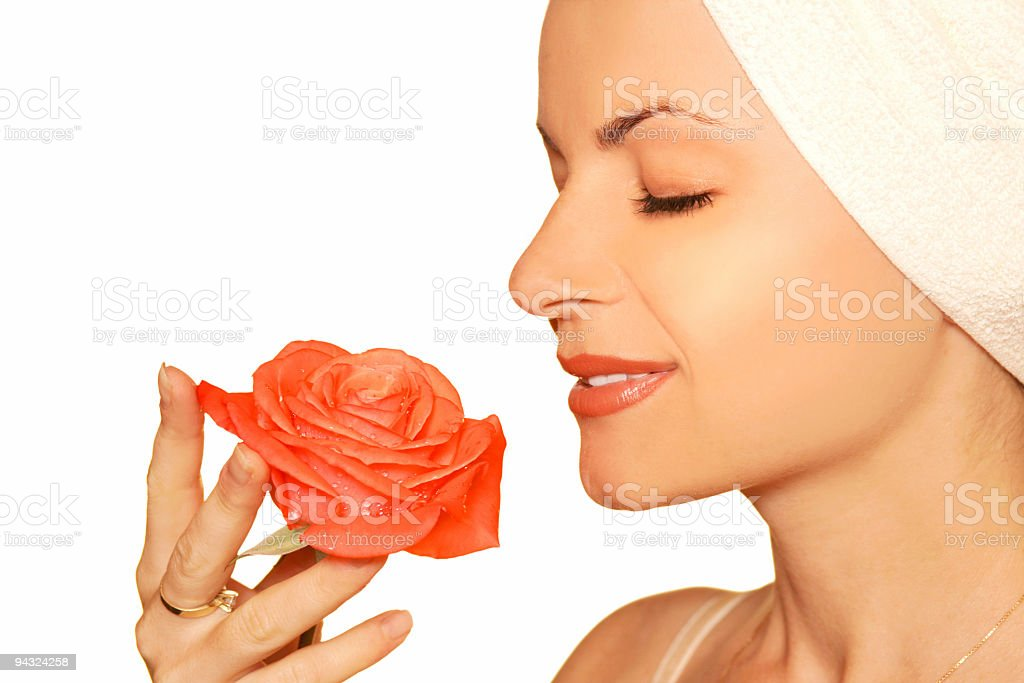 Girl with rose royalty-free stock photo