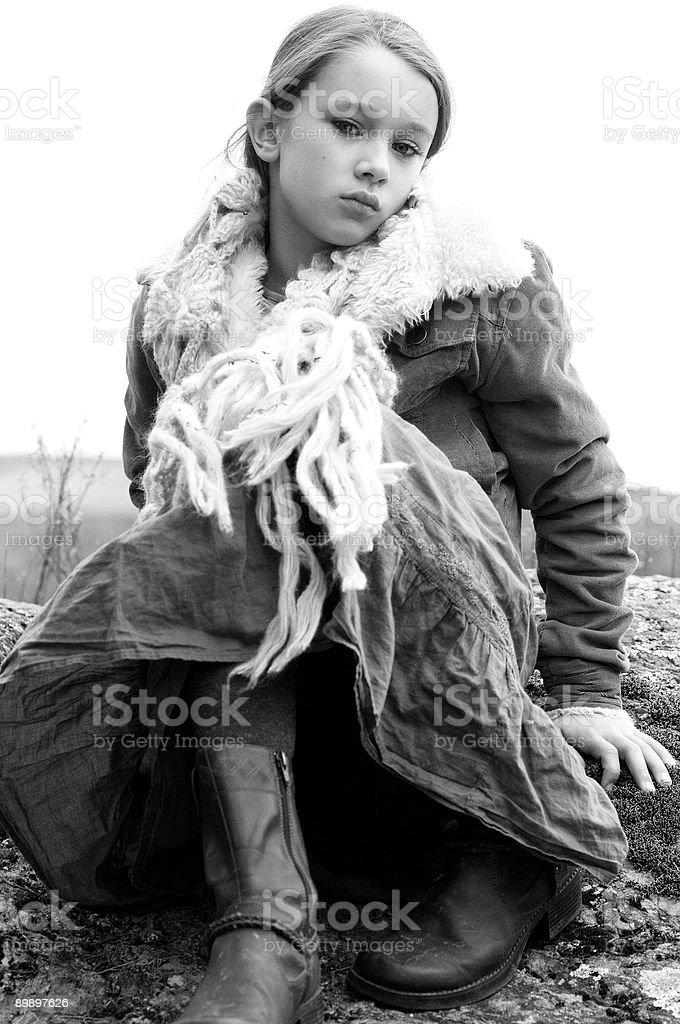 Девушка с шарфом Стоковые фото Стоковая фотография