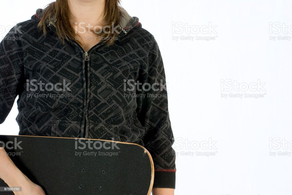 girl with skateboard royalty-free stock photo