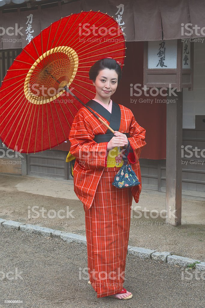 Girl with smile stock photo