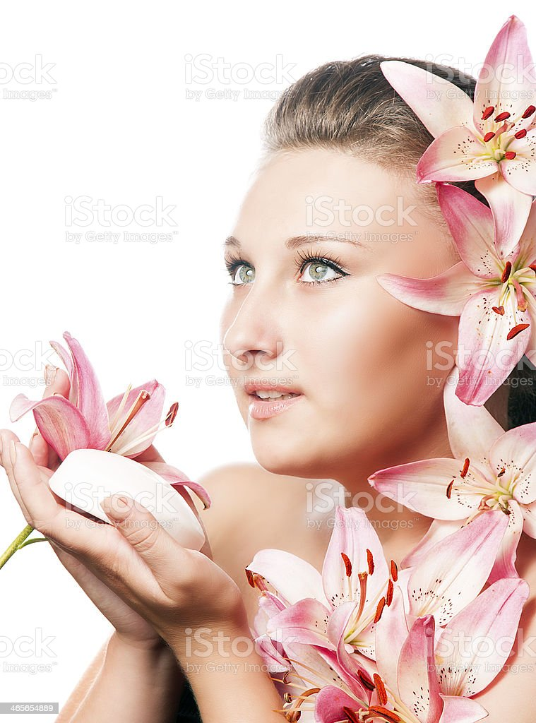 girl with soap and water royalty-free stock photo