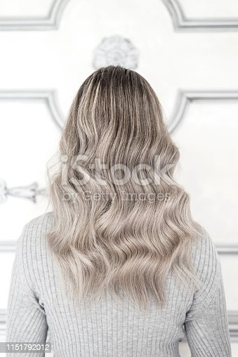 istock Girl with sombre hairstyle in salon 1151792012
