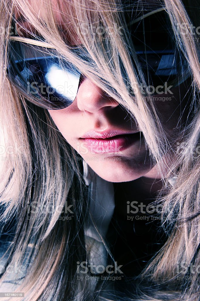 Girl with sun glasses royalty-free stock photo