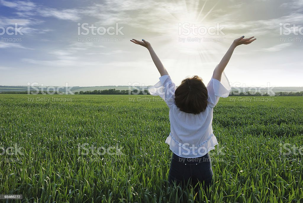 girl with sun light royalty-free stock photo