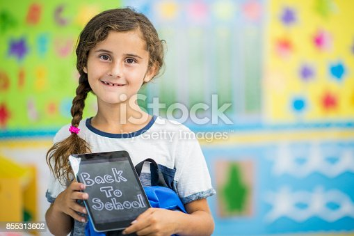 istock Girl With Tablet 855313602