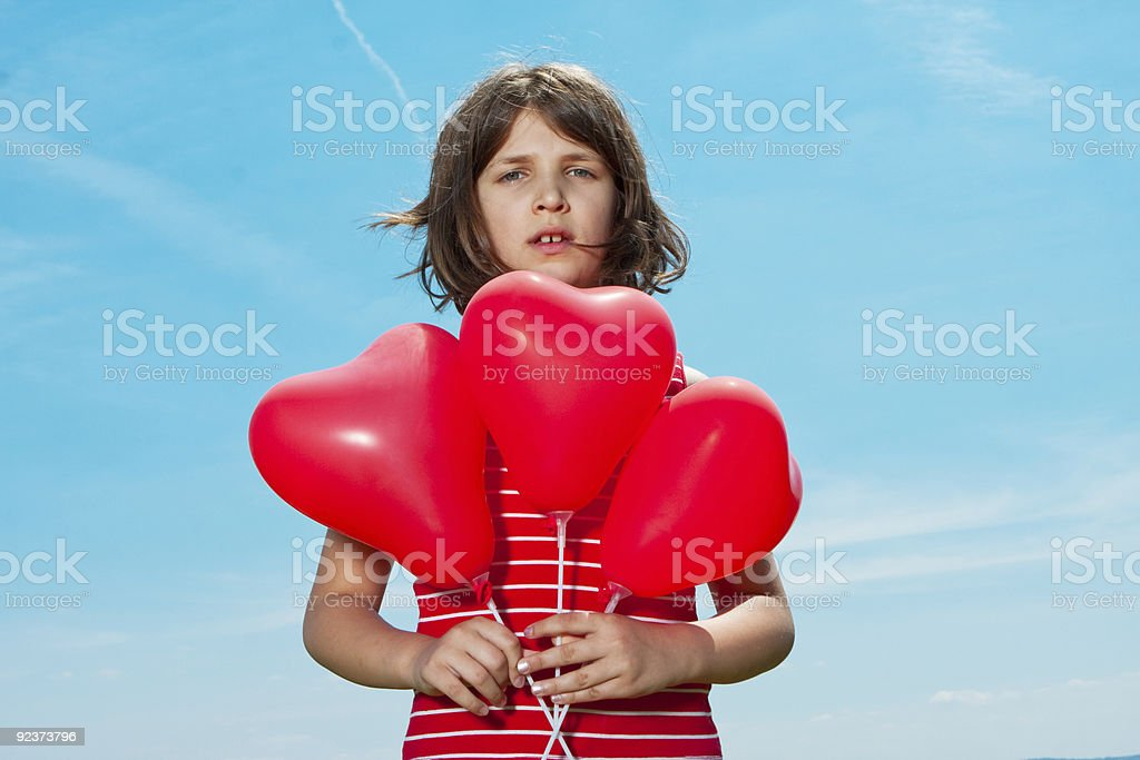 girl with the baloons royalty-free stock photo