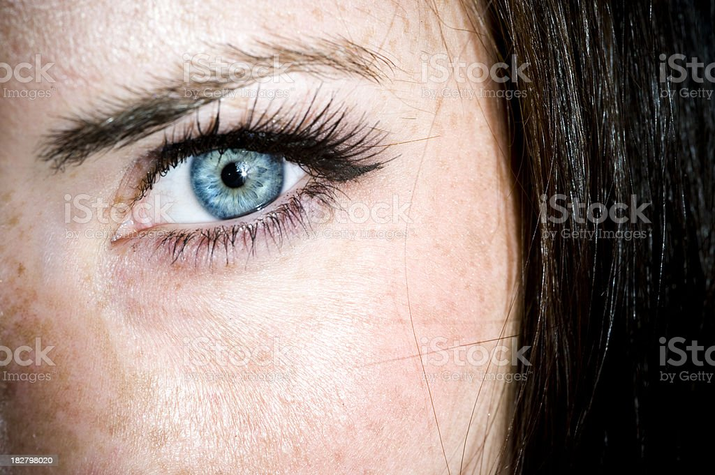 Girl With The Blue Eyes stock photo
