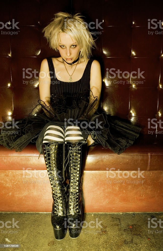 Girl with the Boots stock photo