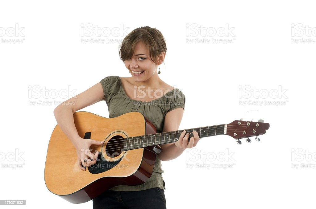 girl with the guitar stock photo