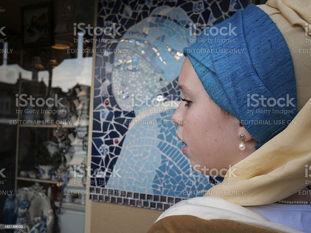 Girl with the pearl earring stock photo
