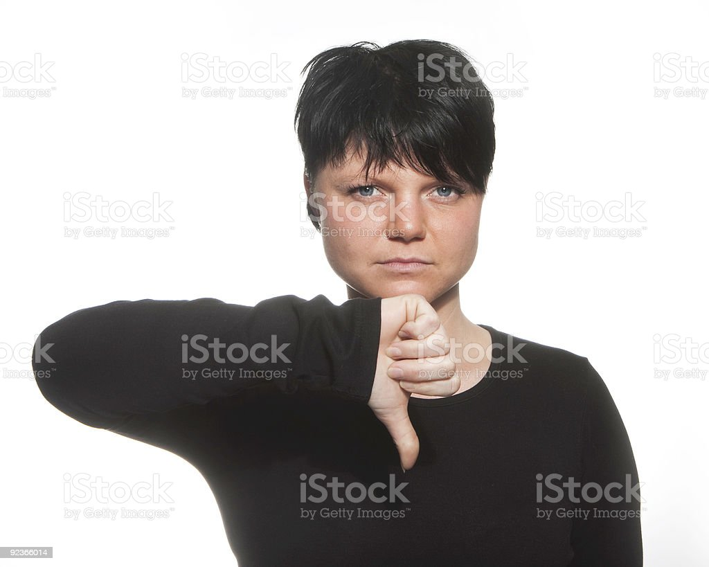 girl with thump down royalty-free stock photo