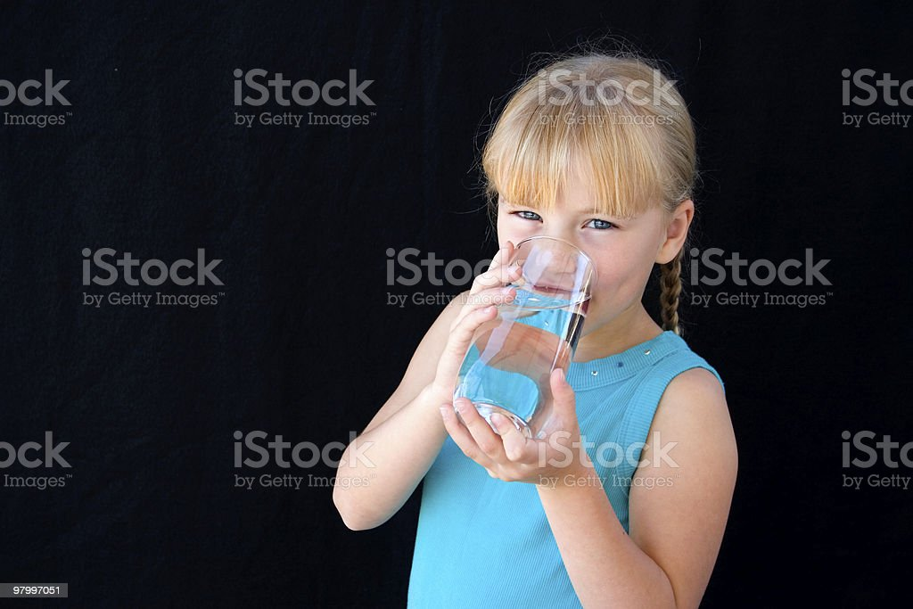 Girl with water royalty-free stock photo