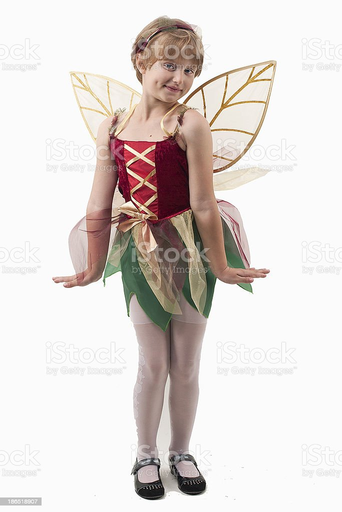 girl with wings royalty-free stock photo