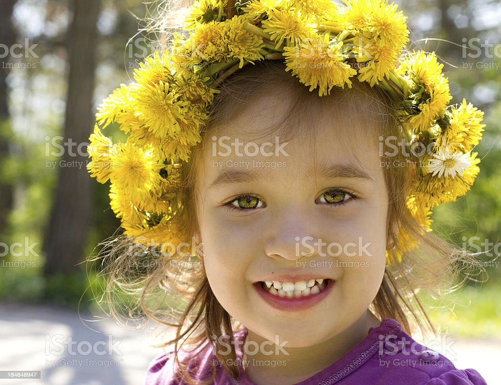Girl with wreath royalty-free stock photo