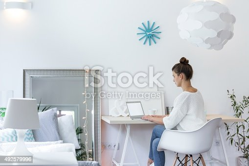 istock Girl working on laptop 492579996