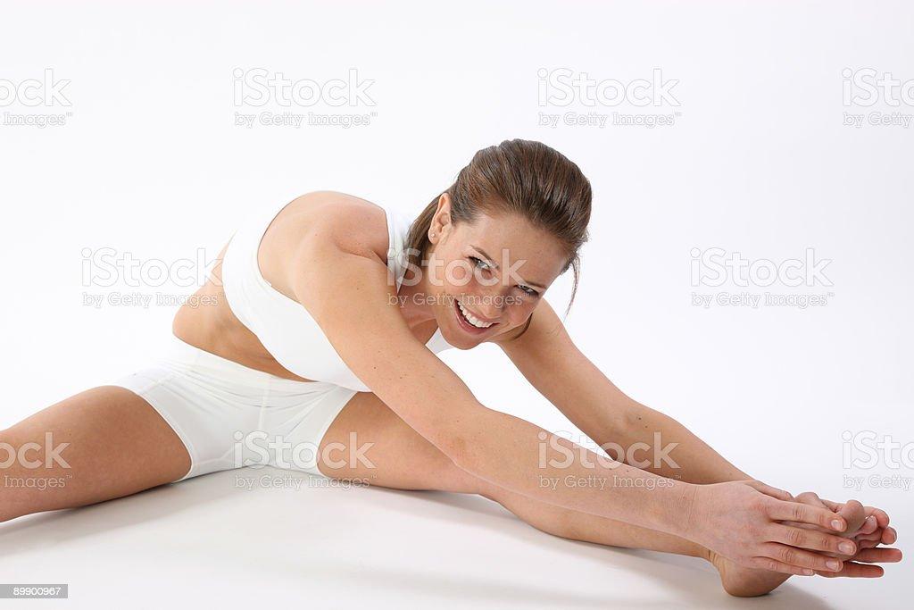 Girl working тренировки Стоковые фото Стоковая фотография