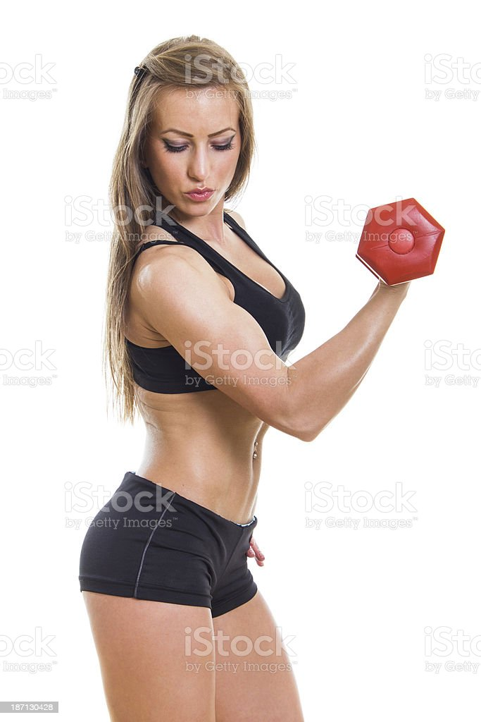 Girl workout royalty-free stock photo