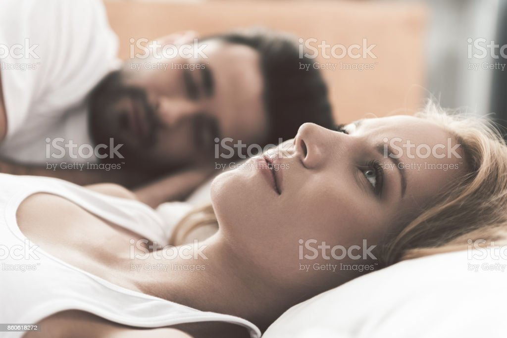 Girl worries about her marriage stock photo