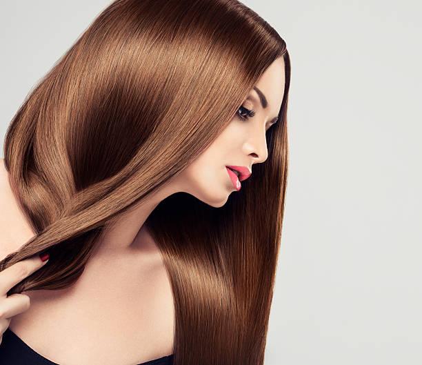 Girl wyth long hair stock photo