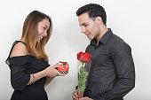 istock Girlfriend and boyfriend on Valentine's day 547440212