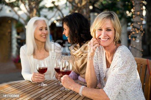 istock Girlfriends drinking wine 181100368