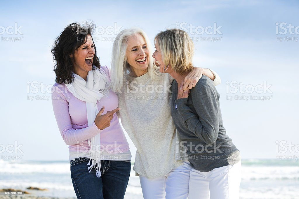 Girlfriends for life stock photo