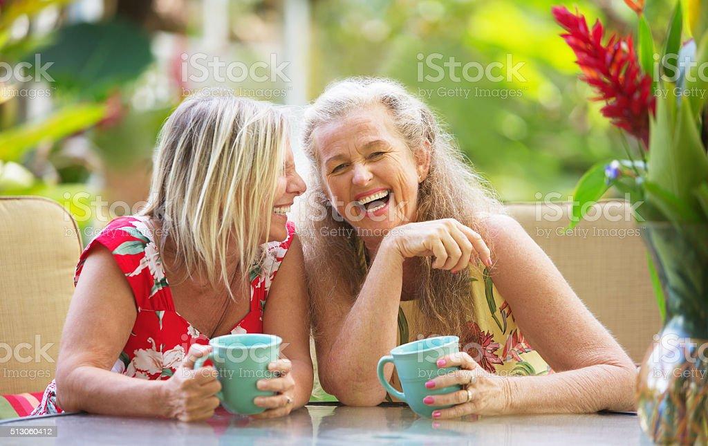 Girlfriends Laughing stock photo