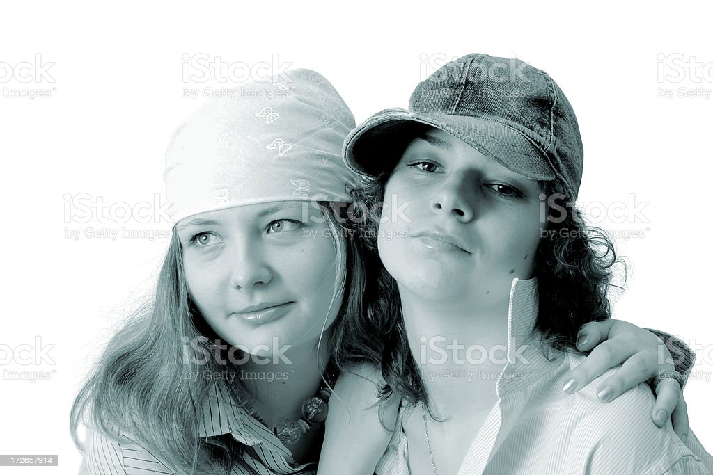 Girl-friends royalty-free stock photo