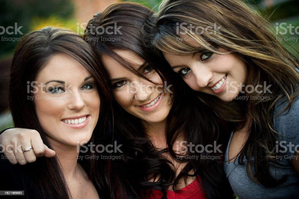 Girlfriends royalty-free stock photo