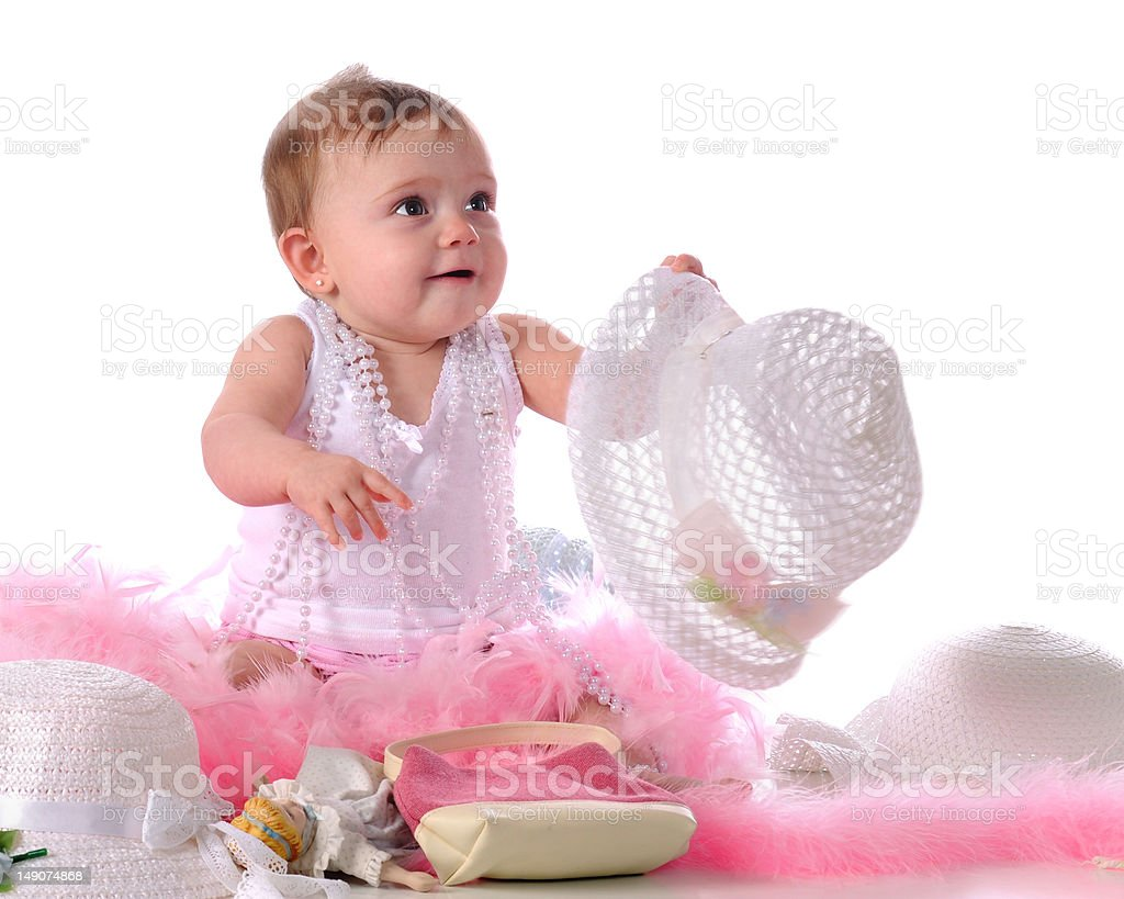 Girlie Baby royalty-free stock photo