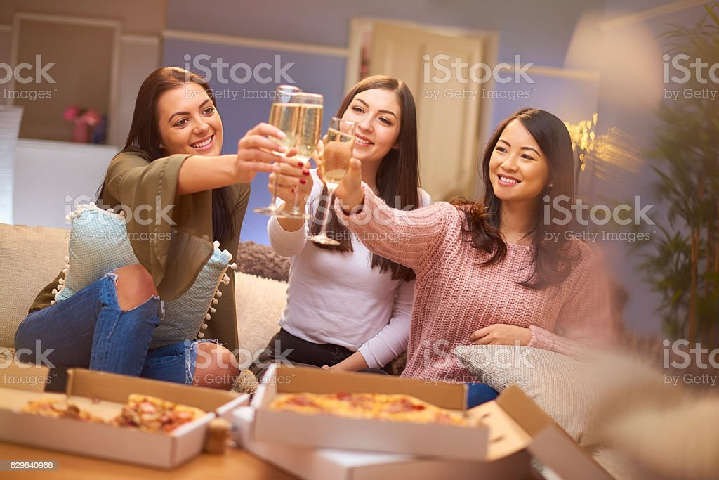 girlie night in stock photo