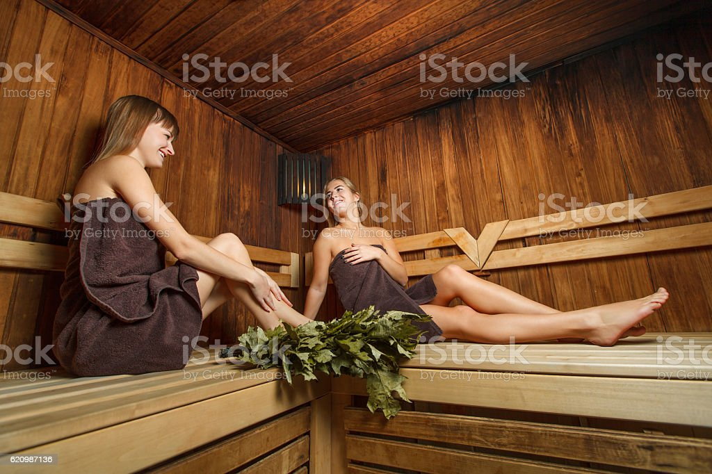Girls after spa therapy. foto royalty-free