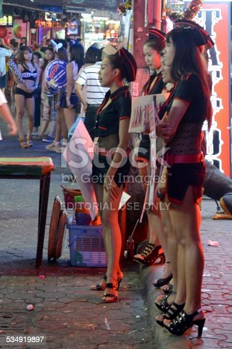 Girls Along Walking Street Pattaya Thailand Stock Photo  More Pictures Of 2015  Istock-1852