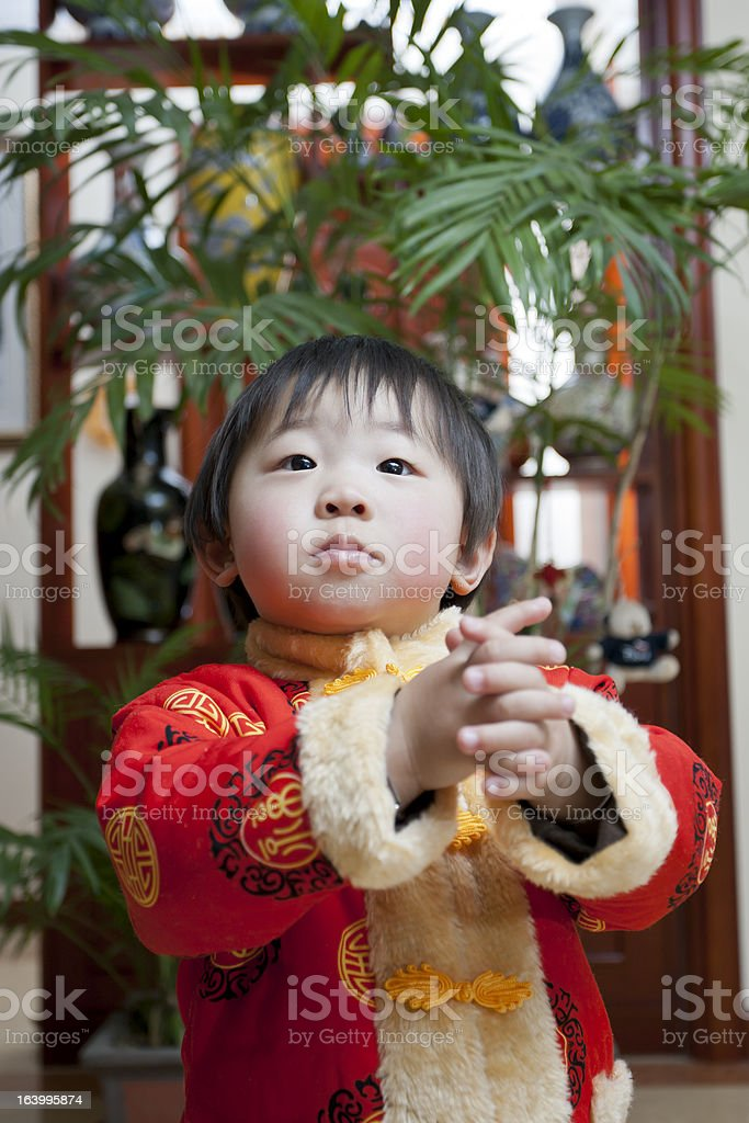 Girls and Congratulations gesture royalty-free stock photo
