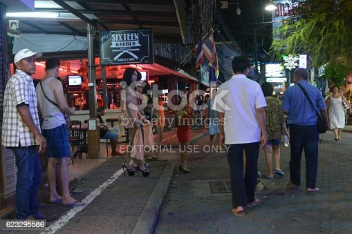 Girls And Ladyboys On Walking Street Pattaya Thailand Stock Photo  More Pictures Of -8424