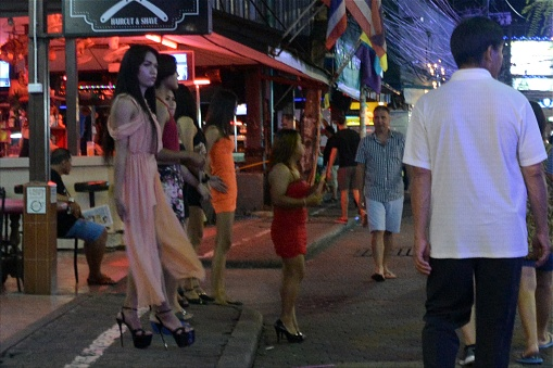 Girls And Ladyboys On Walking Street Pattaya Thailand Stock Photo - Download Image Now -7713