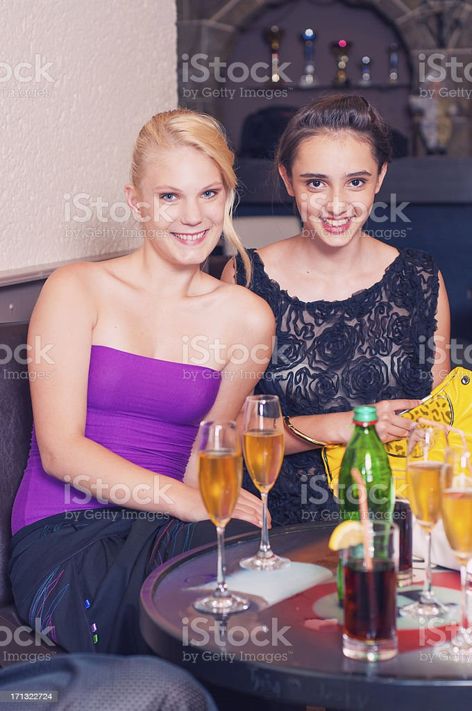 Girls at party stock photo