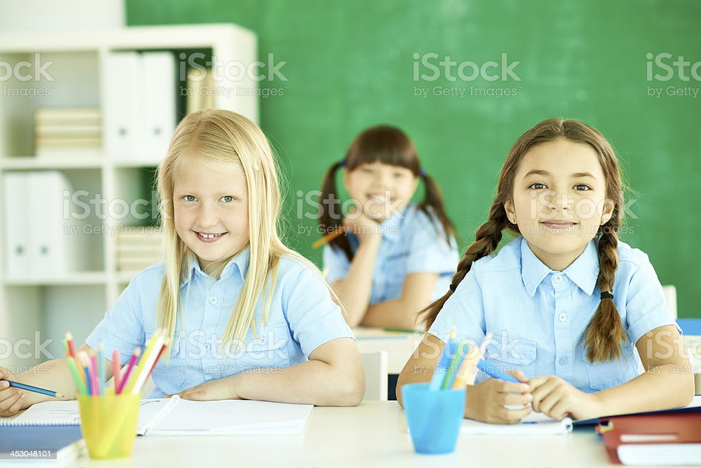Girls at school royalty-free stock photo