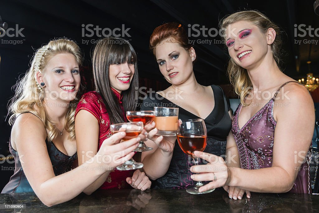 Girls at the Bar stock photo
