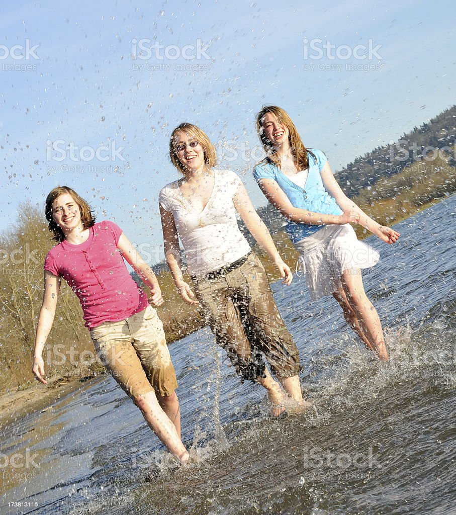 Girls at the Beach royalty-free stock photo