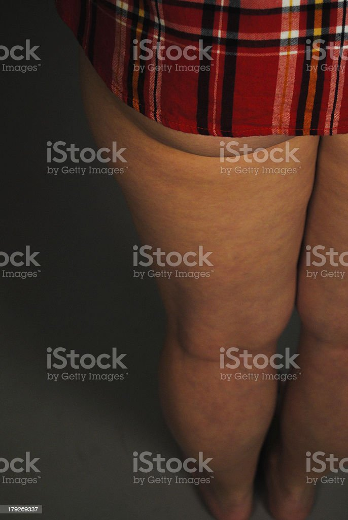 Girls back with an ass peek royalty-free stock photo