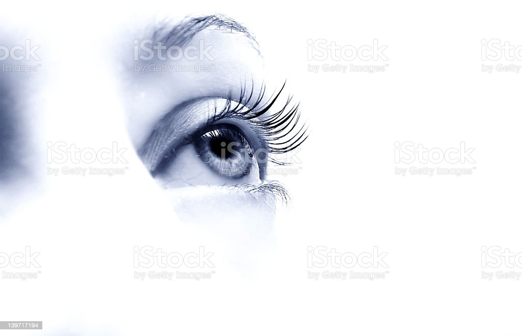 girls beautiful eye with long eyelashes royalty-free stock photo