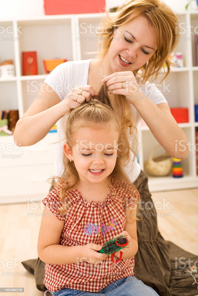 Girls beauty ritual royalty-free stock photo