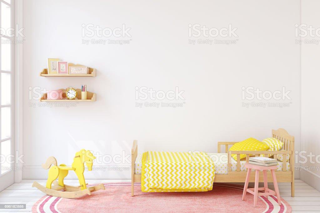 Girl's bedroom. stock photo